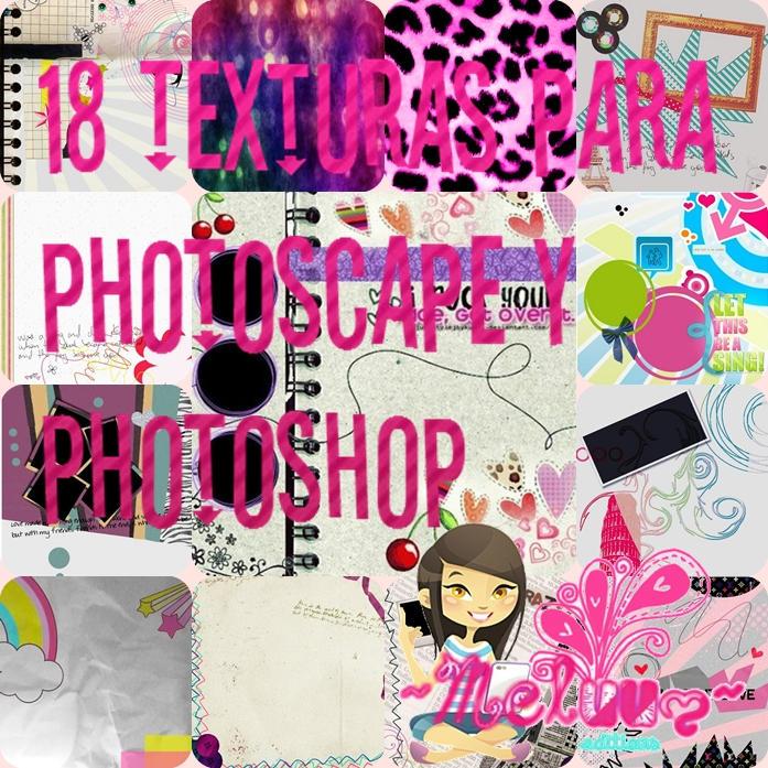 ZIP pack de texturas para Photoscape y Photoshop by Melyssa222