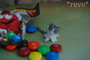 Handmade Miniature Kitten * GIF * by ReveMiniatures