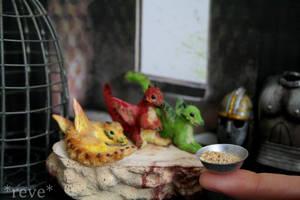 Feeding Baby Dragons! Handmade Polymer Clay Sculpt