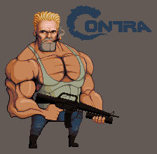 Contra - remake HD (pixel)