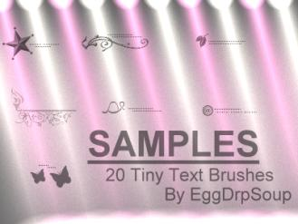20 tiny text brushes by EggDrpSoup