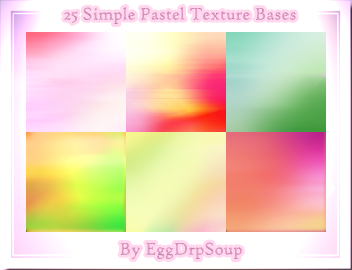 25 Simple Pastel Texture Bases by EggDrpSoup