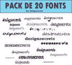 20 fonts
