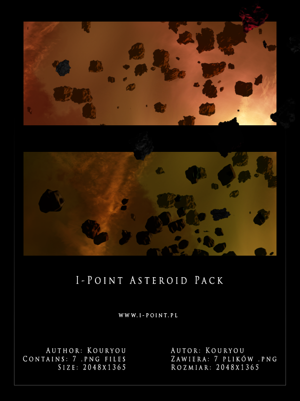 Asteroid pack by ipoint-stock