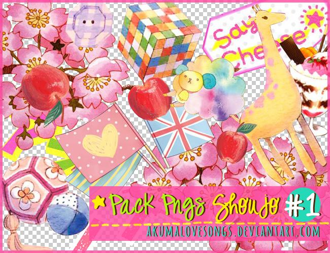 Pack 1 Pngs Shoujo by akumaLoveSongs