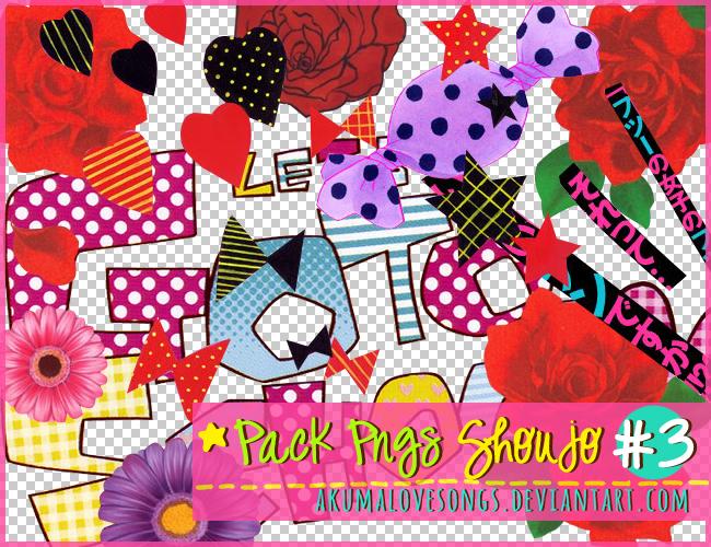 Pack 3 Pngs Shoujo by akumaLoveSongs
