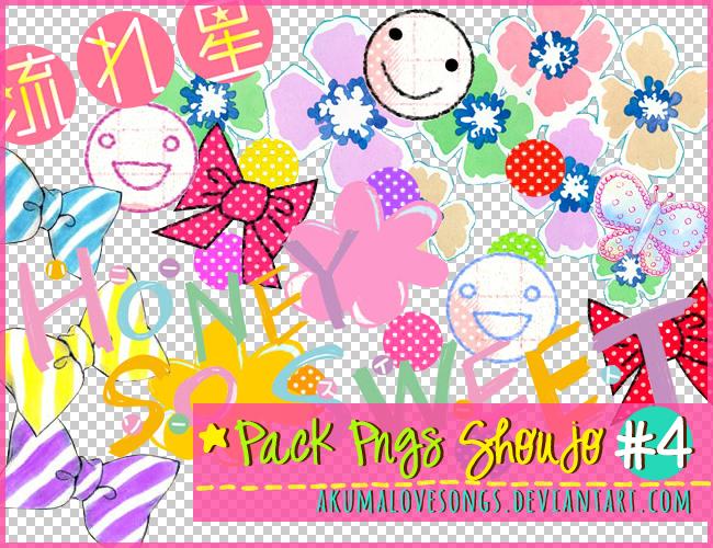 Pack 4 Pngs Shoujo by akumaLoveSongs