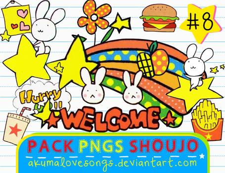 Pack 8 Pngs Shoujo