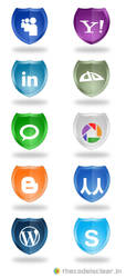 Shield Social Network Icons 2 by thecodeisclear