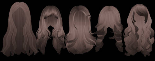 Rigged Sims Hair Pack by okkaruto
