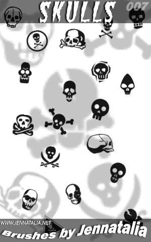 Skulls brush set by jennatalia