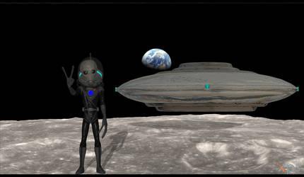 FO4 - Alien Traditional Grey Mod by NUKE-9000