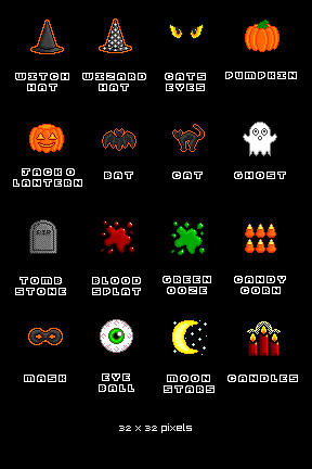Halloween Icons by sailorsaturn78