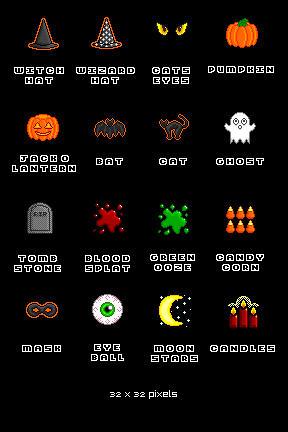 Halloween Icons by sailorsaturn78