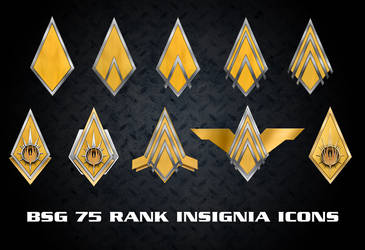 BSG 75 Rank Insignia Icons by Retoucher07030