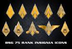 BSG 75 Rank Insignia Icons