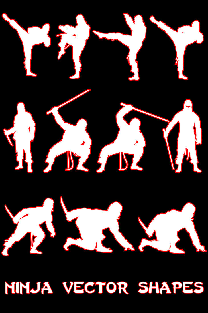 Ninja Vector Shapes by Retoucher07030