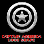 Captain America Vector Shape