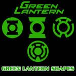 Green Lantern Vector Shapes