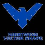 Nightwing Vector Shape