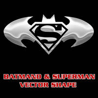 Batman Superman Combo Shape by Retoucher07030