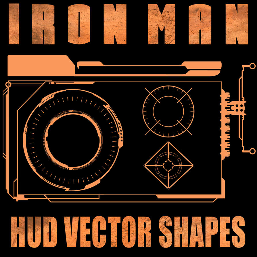 Ironman HUD Shapes Set 2 by Retoucher07030