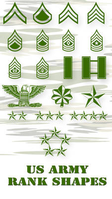 US Army PS Vector Shapes