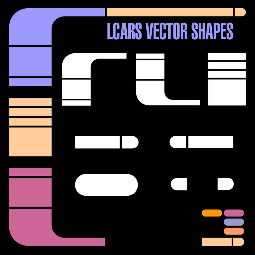 LCARS Vector Shapes by Retoucher07030 on DeviantArt
