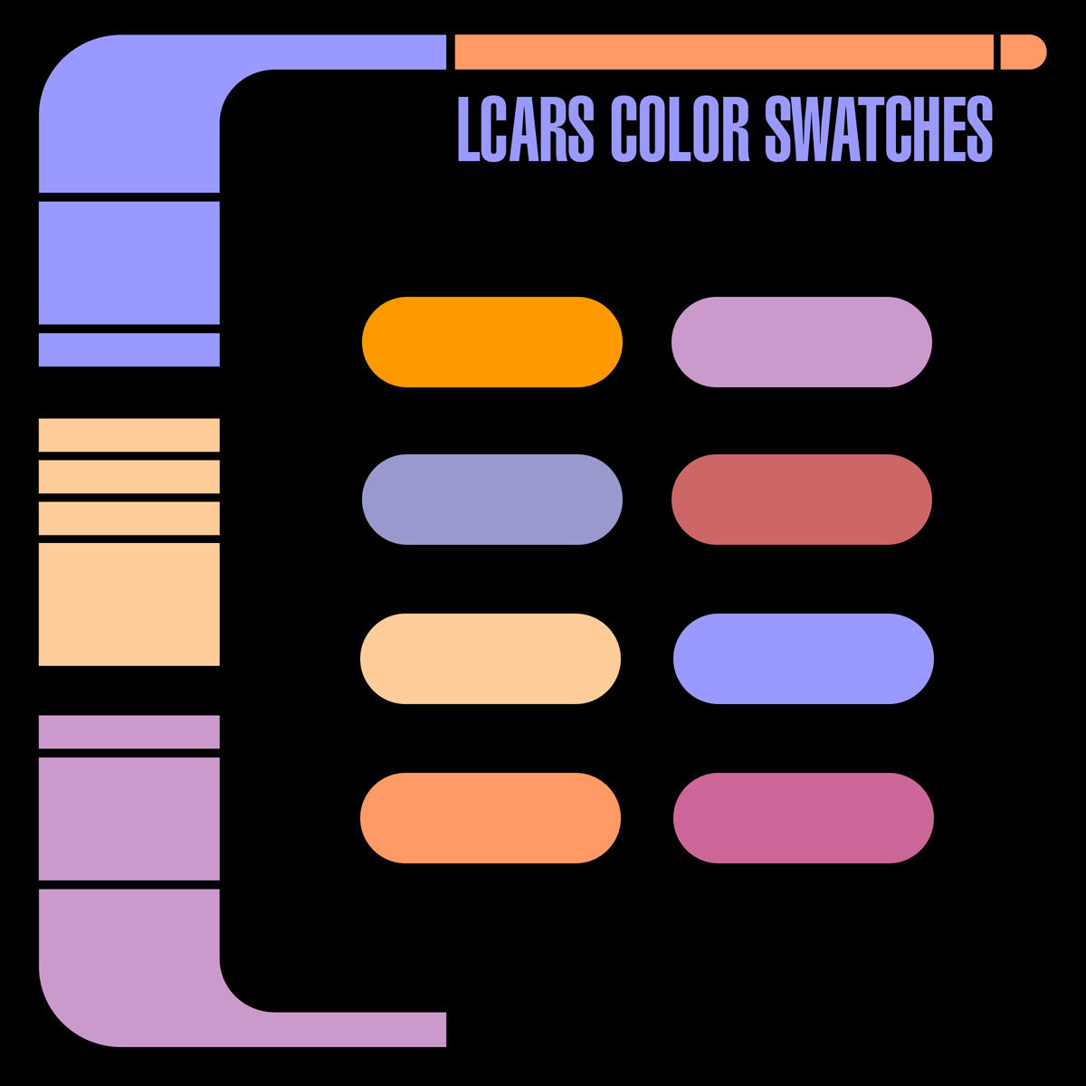 LCARS Color Palette by Retoucher07030