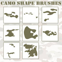 Camo Shapes PS Brushes