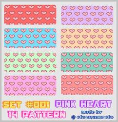 PATTERN SET 001 - Pink Hearts by AndreeaArsene