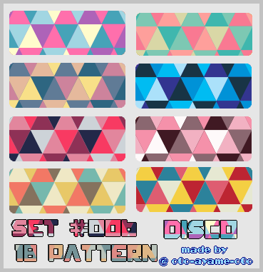 PATTERN SET 006 - Disco by AndreeaArsene