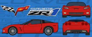 Chevy Corvette ZR1 PSD Stock