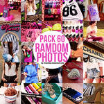 Pack 60 ramdom photos