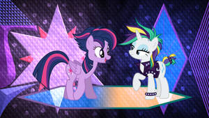 Rarity and Twilight with style