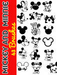 Mickey and Minnie Brushes