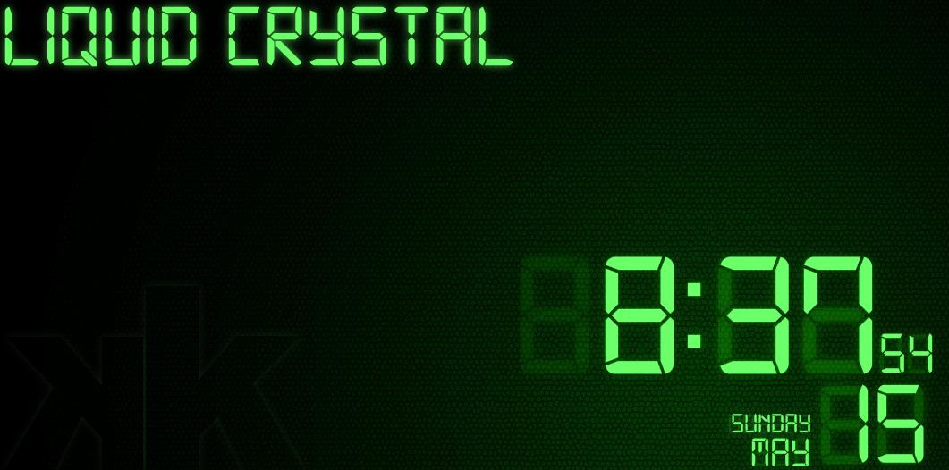 Liquid Crystal for Rainmeter by kop4