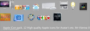 iCon Pack. Apple icons.