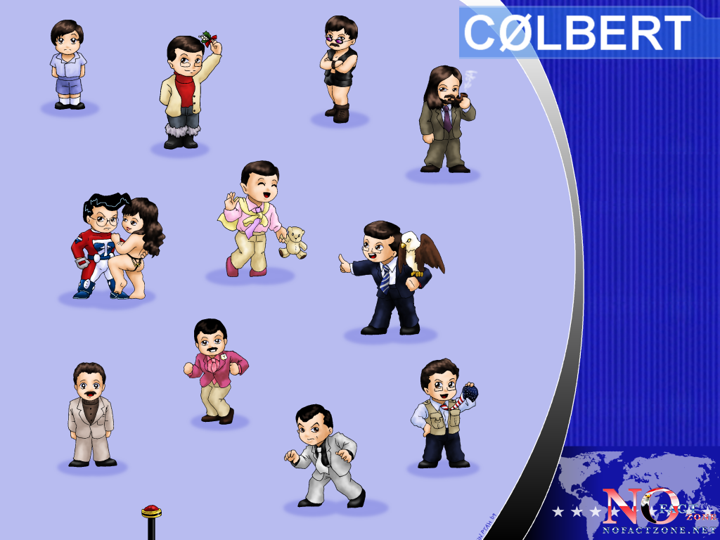 The Many Faces of Colbert by ErinPtah