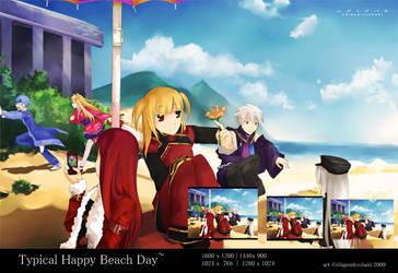 typical happy beach day by shigemitsubaki