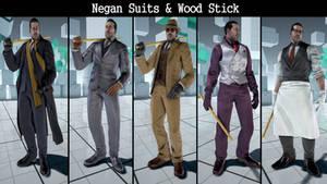 Tekken7 negan suits and weapon mod