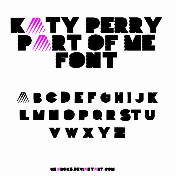 Part Of Me Font