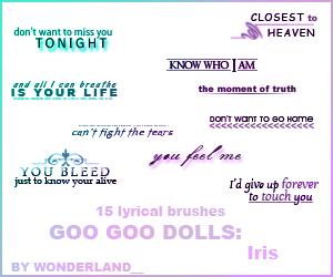 Goo Goo Dolls - Iris by Foxxie-Chan