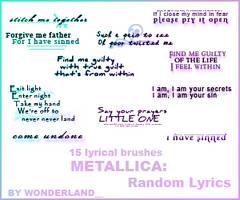 Metallica - Random Lyrics