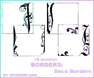 Deco Borders by Foxxie-Chan