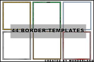 44 Icon Border Templates