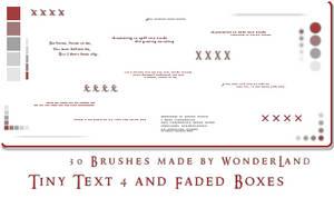 Tiny Text 4 + Fading Boxes