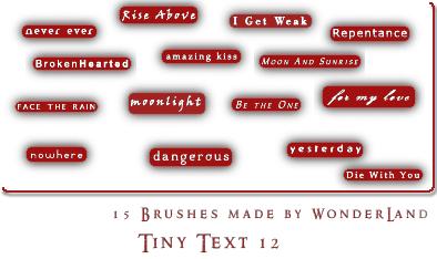 Tiny Text 12 by Foxxie-Chan