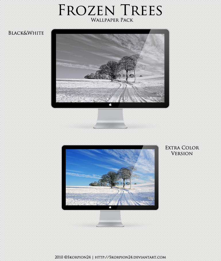 Frozen Trees Wallpaper Pack by Skorpion24