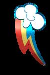 Rainbow Dash cutie mark 3D